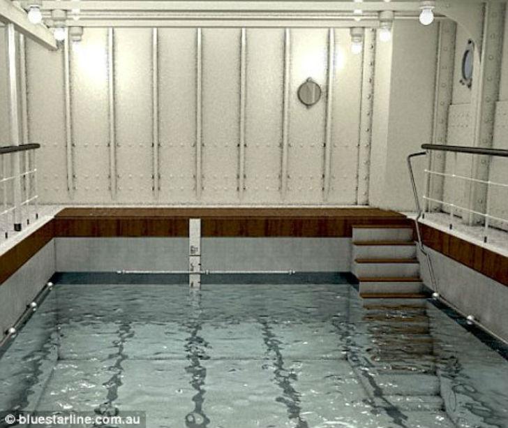 Бассейн на современном лайнере.