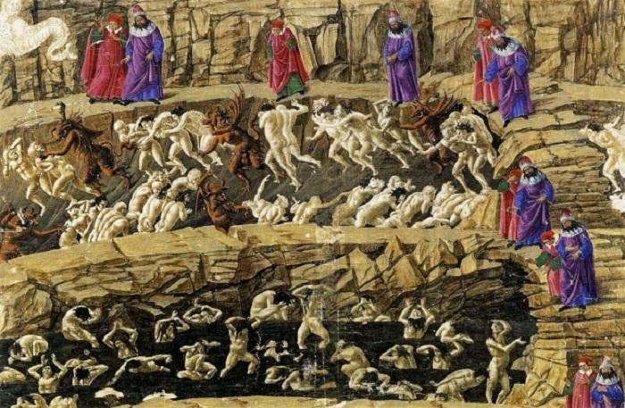 9-й круг — Отступники и предатели. Здесь можно встретить и Люцифера, и Иуду, и Брута, и Кассия. Нака