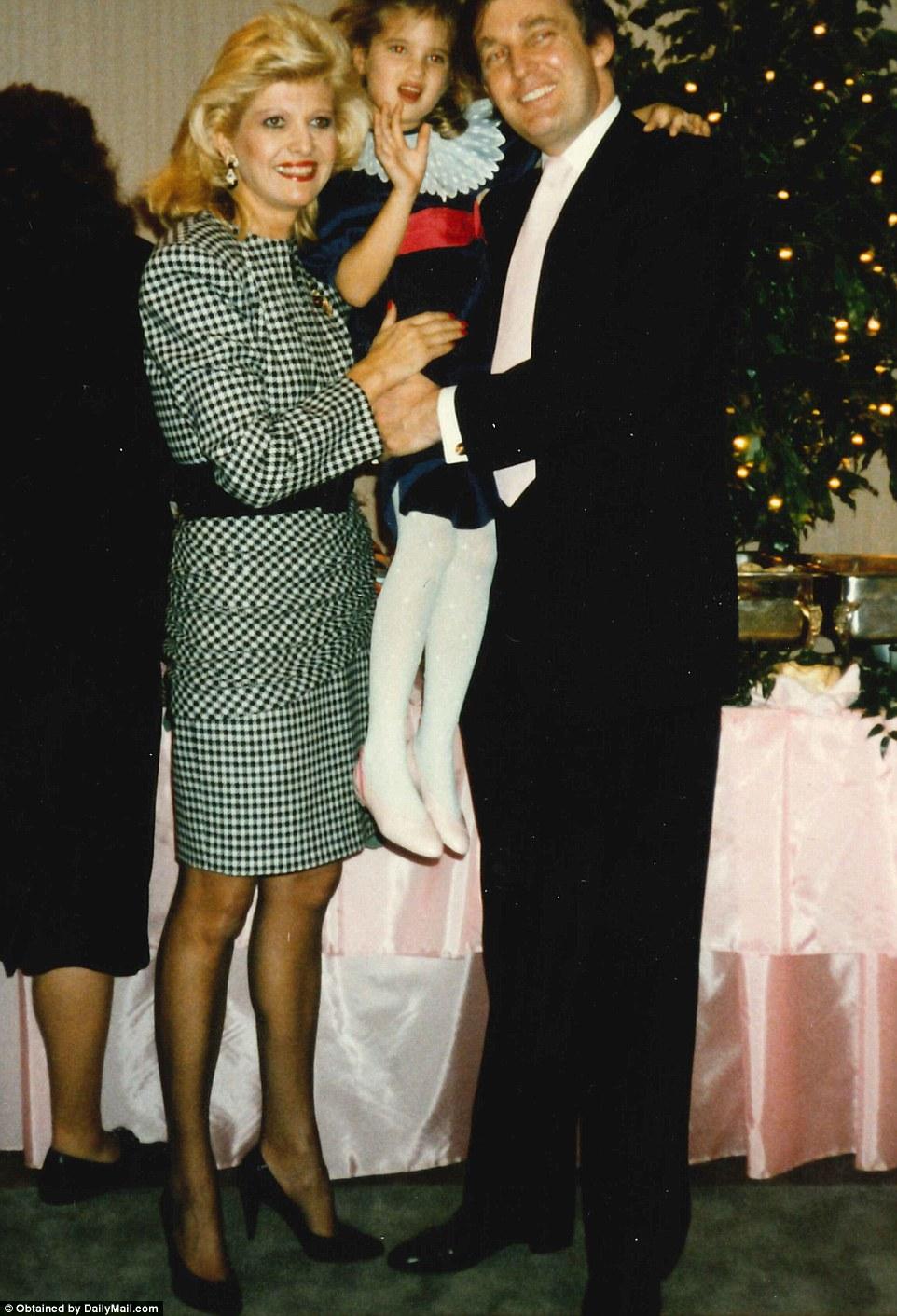 Ивана и Дональд Трамп с дочерью Иванкой.