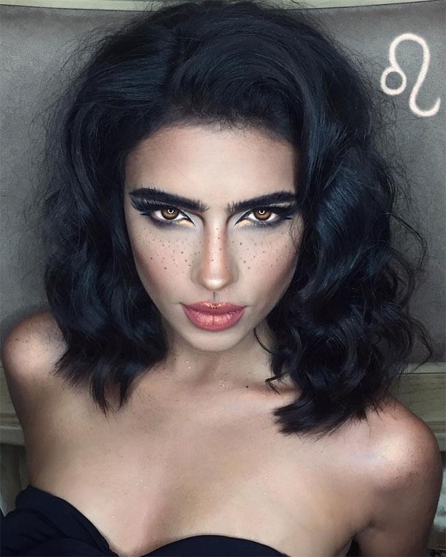 Иранская художница с помощью одного лишь макияжа сделала знаки зодиака сексуальными