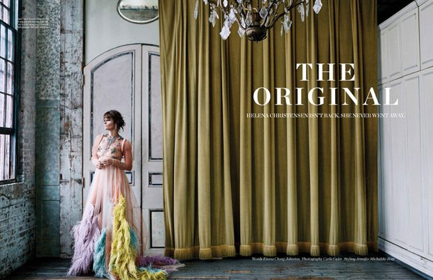 Хелена Кристенсен в Elle Malaysia