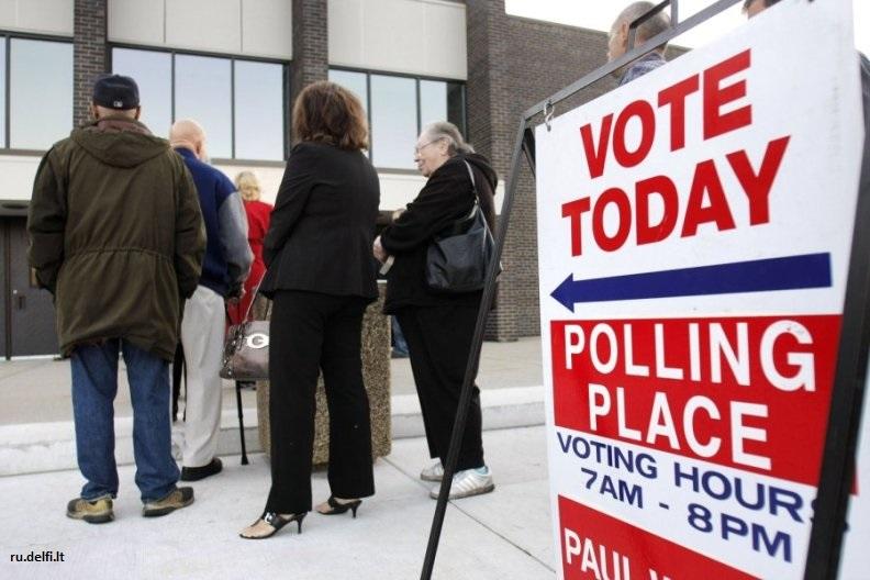 Размещены данные оявке избирателей в5 основных штатах США