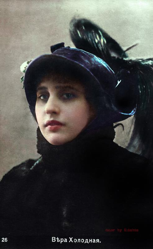 Vera Kholodnaya - russian silent movie star
