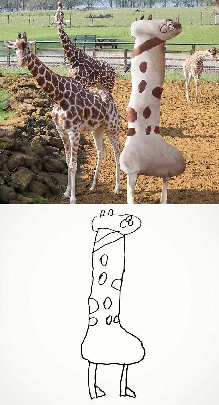 папа воплощает в реальность рисунки 6-летнего сына