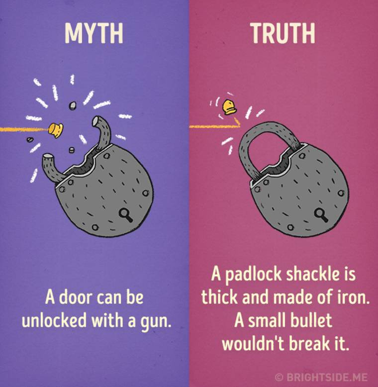 Movie Myths - 12 misconceptions popularized by movies