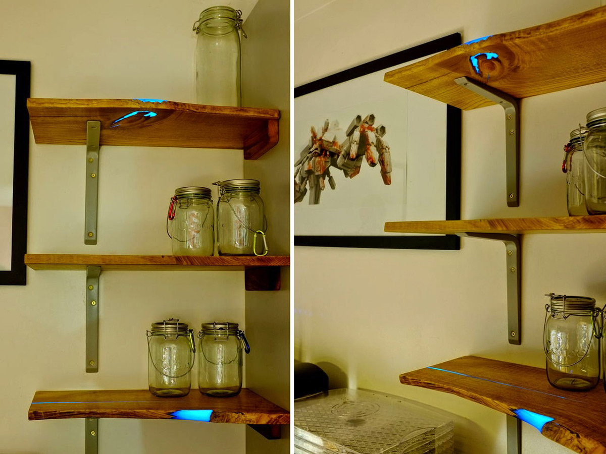 DIY Glowing Inlaid Resin Shelves by Mat Brown