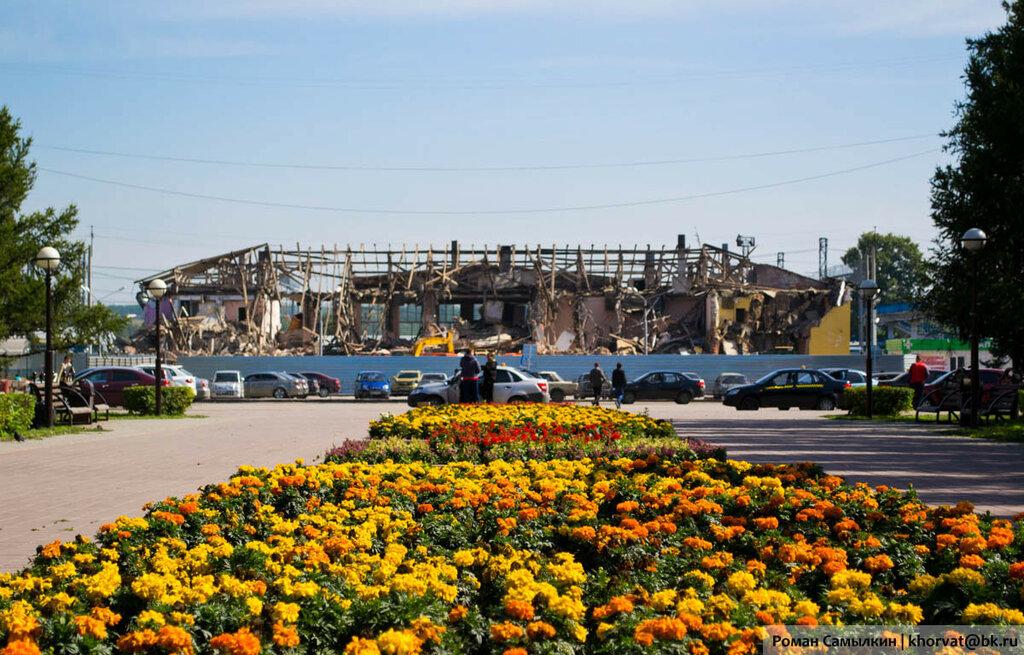 Снос железнодорожного вокзала в Белово