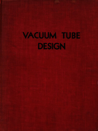 Vacuum Tube Design - RCA - Book Cover