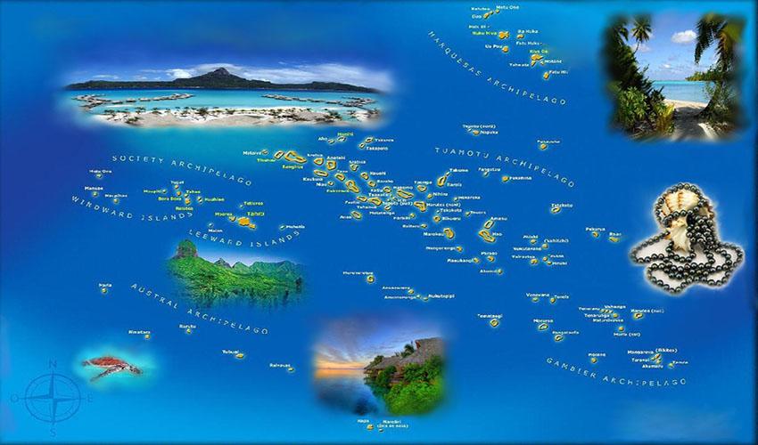 Map French Polinesiya