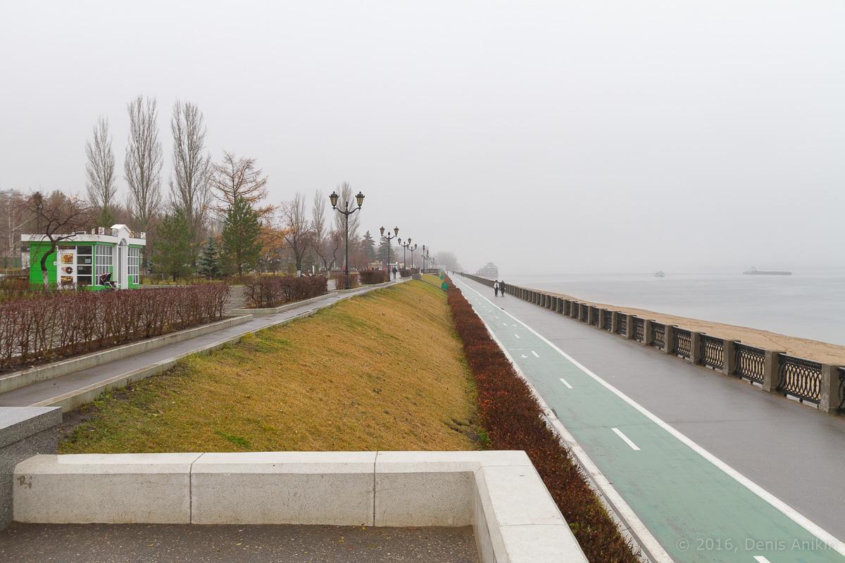 Самара набережная туман дождь фото 7
