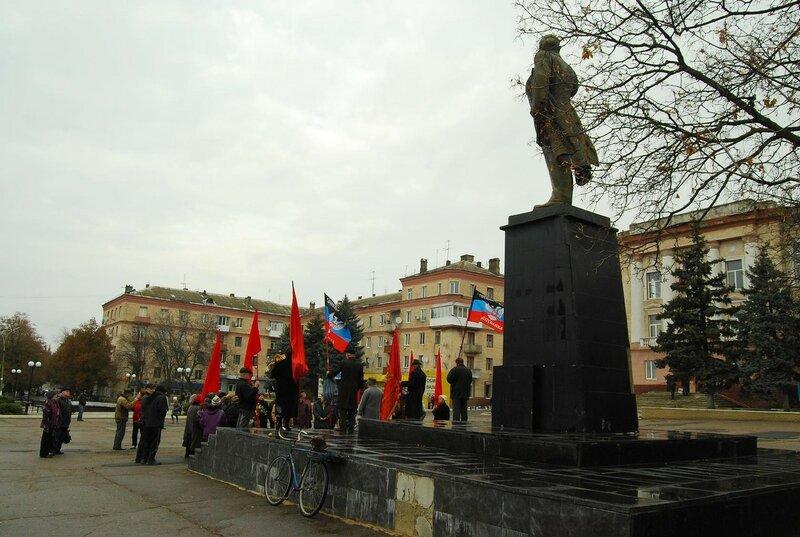 7 ноября 2016, Амвросиевка, , площадь им. Ленина. Митинг посвященный 99 годовщине Великого октября.