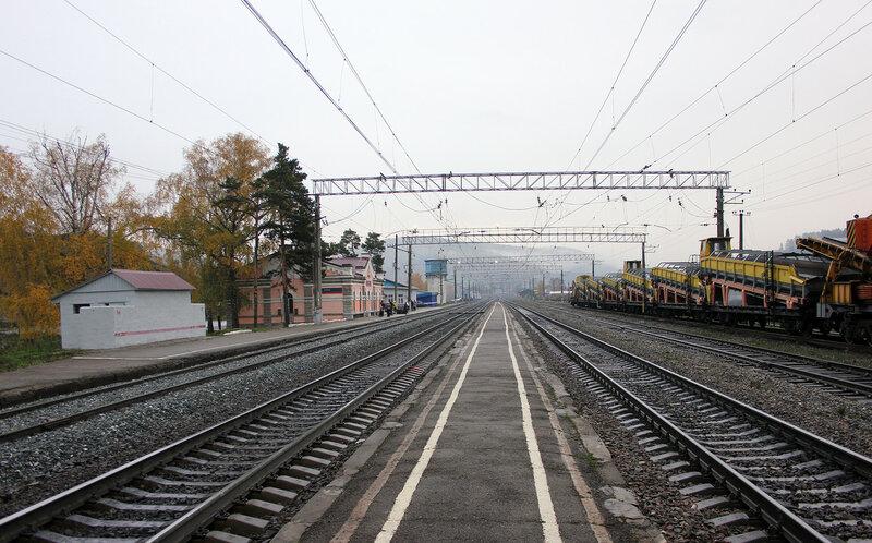 Станция Симская, вид на Кропачёво