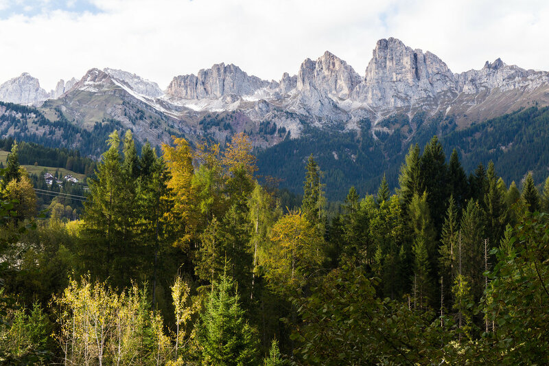 пейзаж в Доломитовых альпах