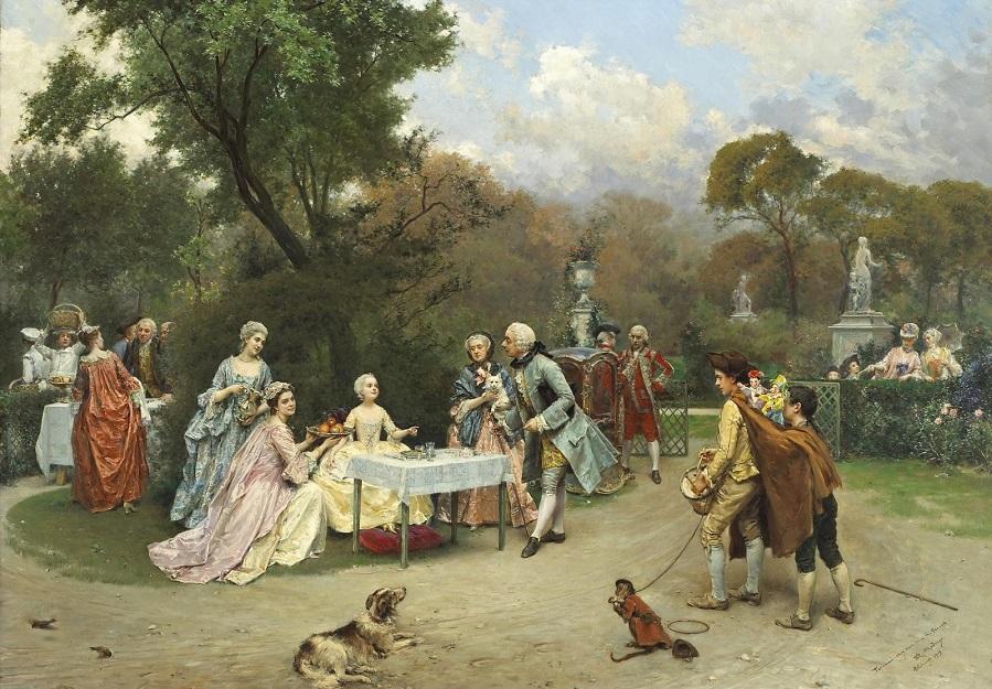1905_Маленькая принцесса в садах Версаля (A little princess in the gardens at Versailles)_ 89 х 117_х.,м._Частное собрание.jpg