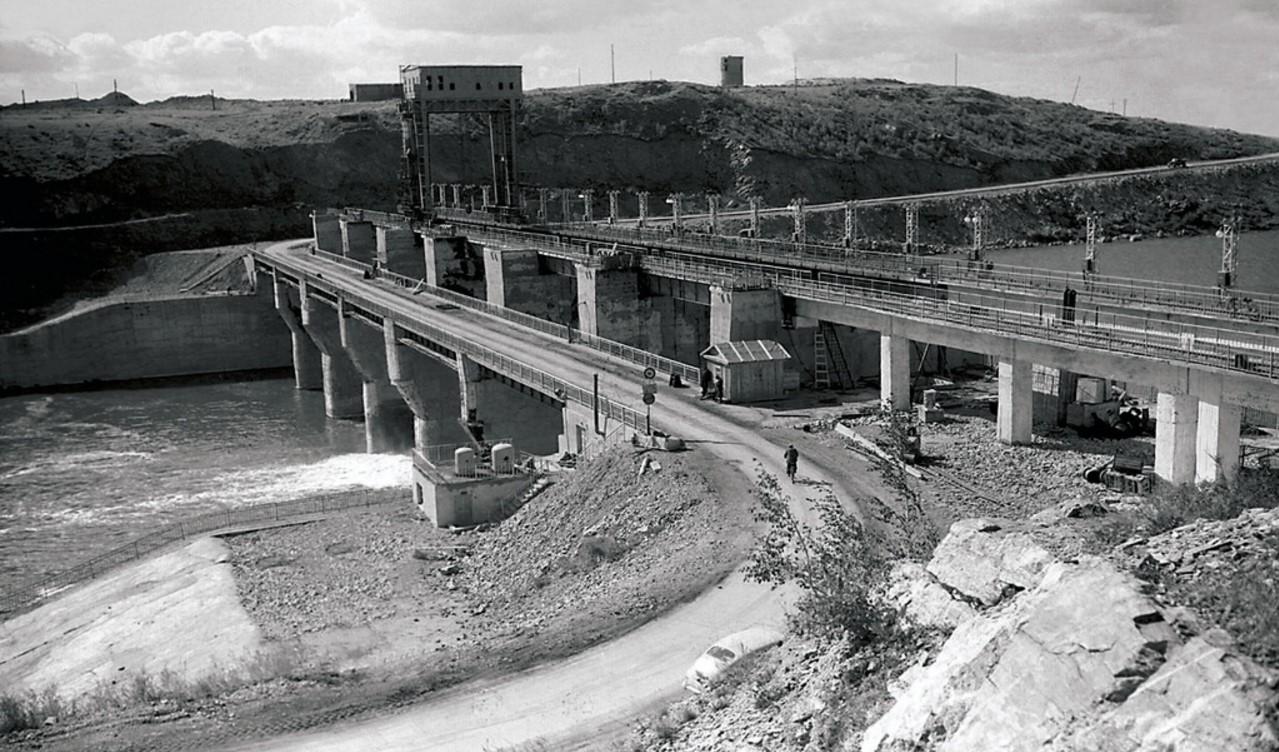 Южноуральск. Плотина Южноуральской ГРЭС (1952)