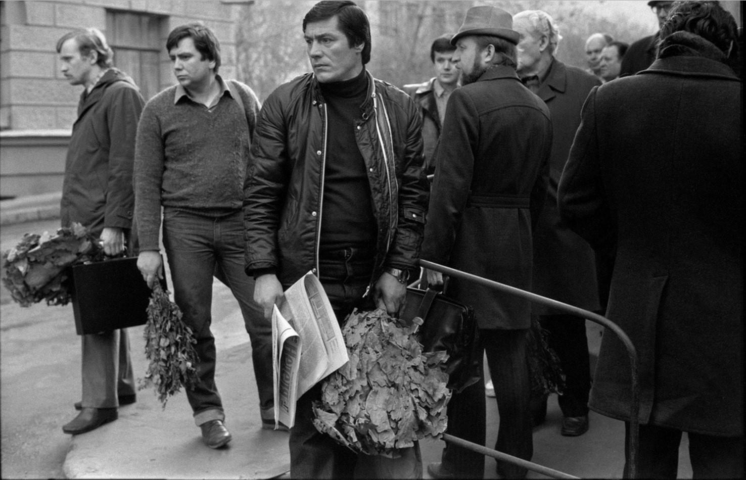 1984. Утренняя очередь в Сандуновские бани
