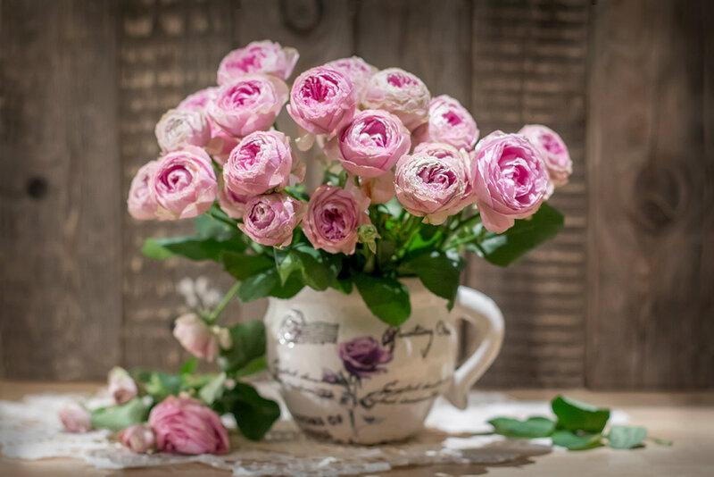 розовый букет...