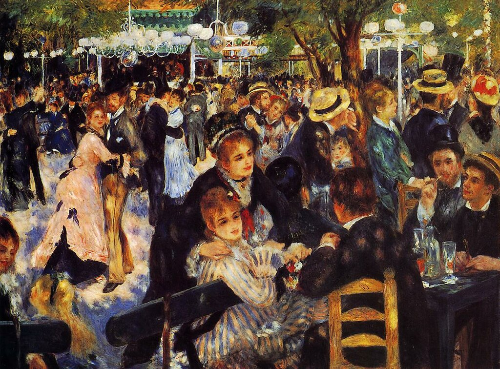 Пьер Огюст Ренуар: Dance at the Moulin de la Galette - 1876
