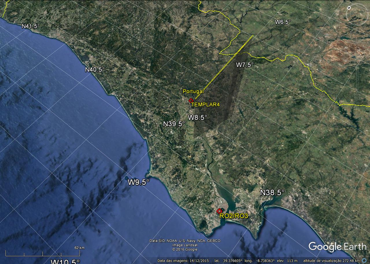 3D trajectory of the Fireball – © Portuguese Meteor Network systems