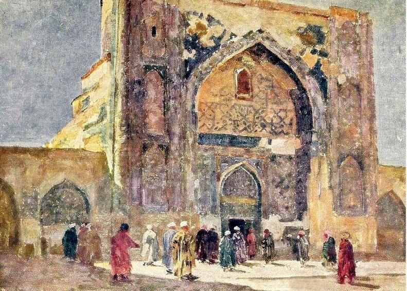 Во дворе мечети Тилля Кари.jpg