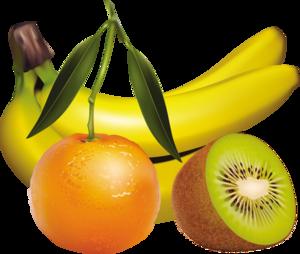 бананы, киви, мандарины
