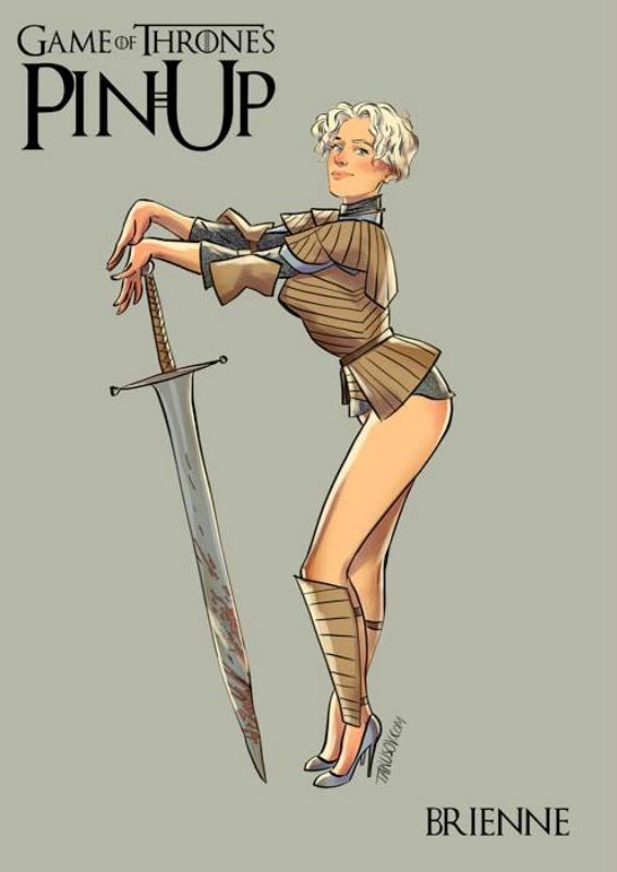 Девушки «Игры престолов» в соблазнительных образах пин ап