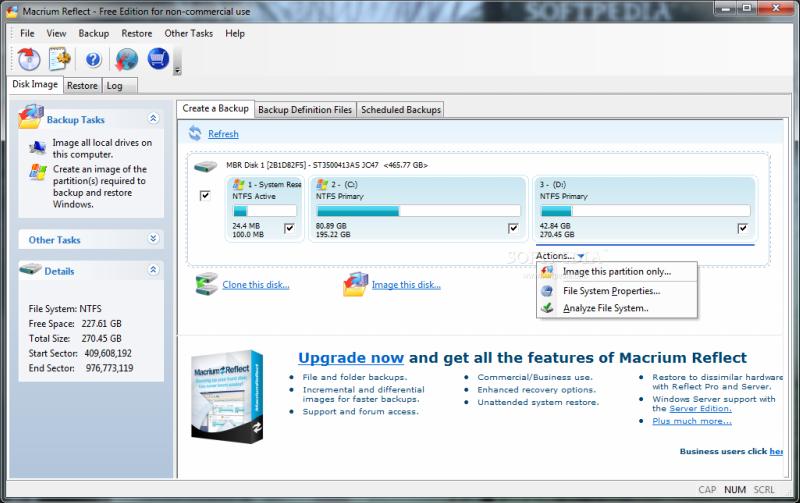 Бесплатная версия Macrium Reflect   программа для клонирования Windows