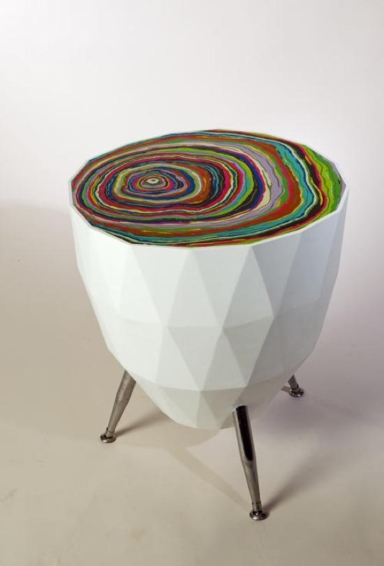 30. Радужные столы необычной формы