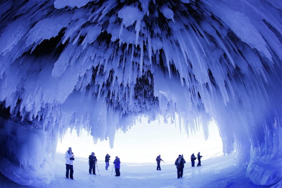 Пещера в Висконсине, США.