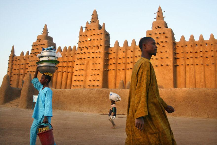 Город Дженне, Мали.