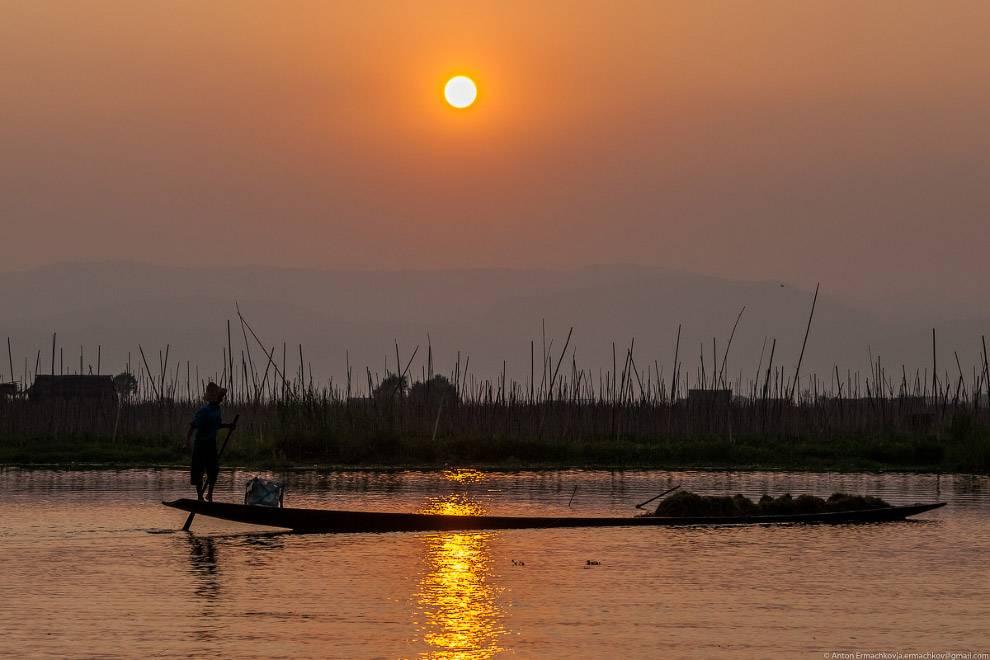 На рассвете рыбаки вновь на своих места.