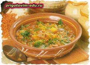 Густой чечевичный суп