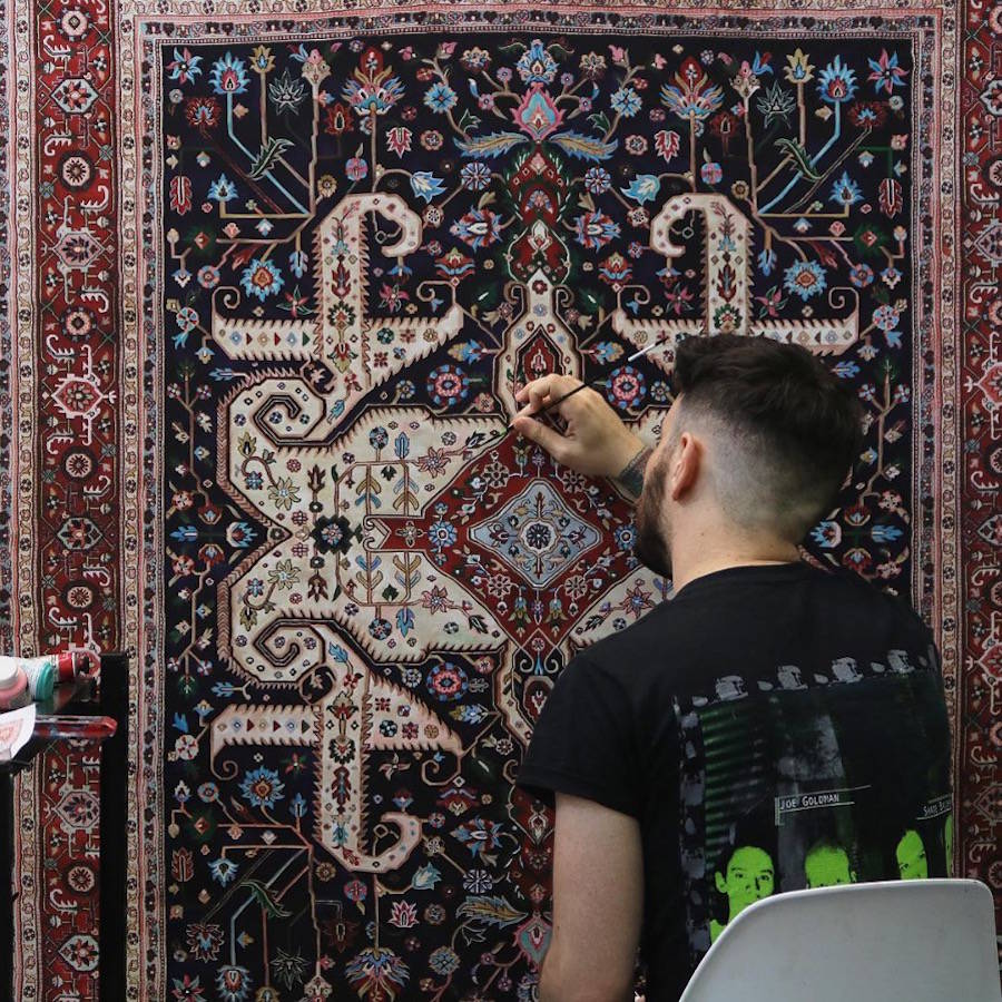 Meticulous Paintings of Persian Carpets