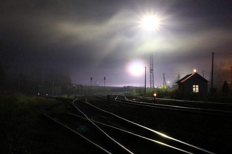 Стрелочный пост на станции Новосокольники, Рижское направление. Себежский парк, вид на Себеж