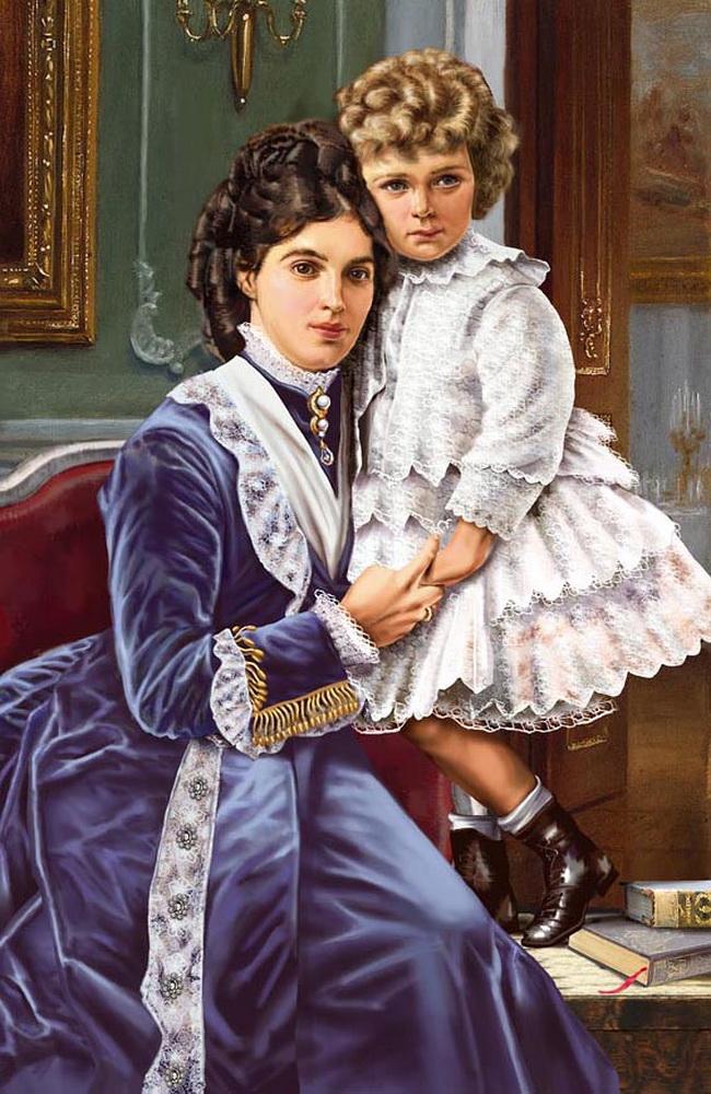 Мария Федоровна с маленьким Николаем II.jpg