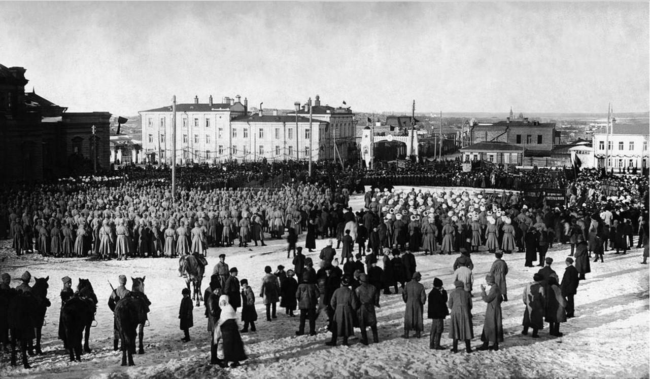 1925. Челябинск. Траурный митинг на площади Революции