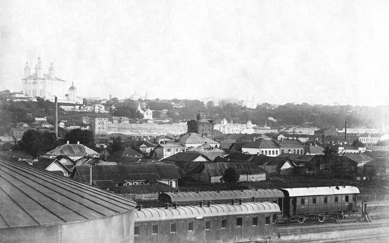 Вид города от товарной станции. 1911