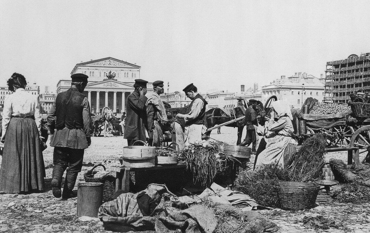 Торговля на Театральной площади. 1900-е