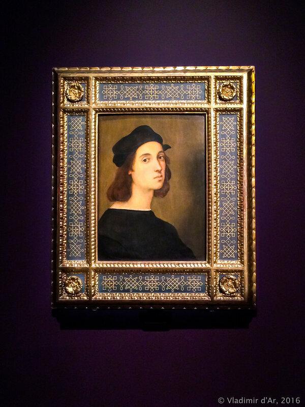 Рафаэль Санти. Автопортрет. Около 1505 г. Галереи Уффици, Флоренция.