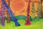 Иванова Олеся (рук. Мезенцева Александра Ивановна) - Вечерний лес