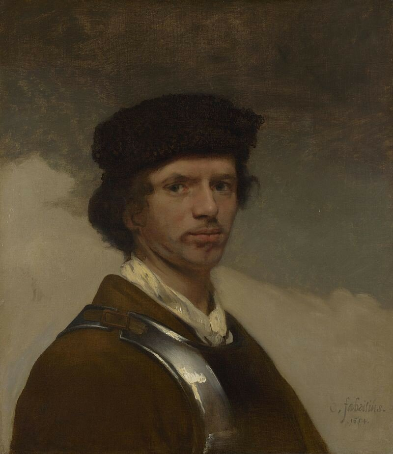 Carel_Fabritius_-_A_Young_Man_in_a_Fur_Cap_and_a_Cuirass_(probably_a_Self_Portrait)_-_National_Gallery,_London_-_1654_(2).jpg