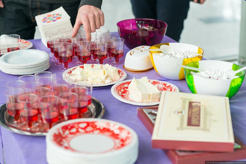 В рамках выставки после церемонии открытия в аэропорту Внуково прошла дегустация натуральных эко-продуктов Вологодской области
