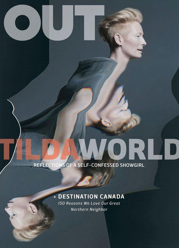 Тильда Суинтон в OUT Magazine
