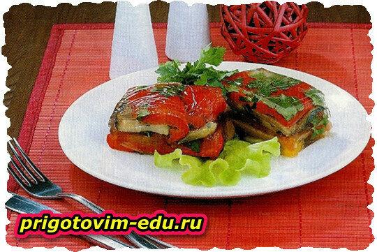 Заливные овощи (перец ,баклажаны , помидоры)