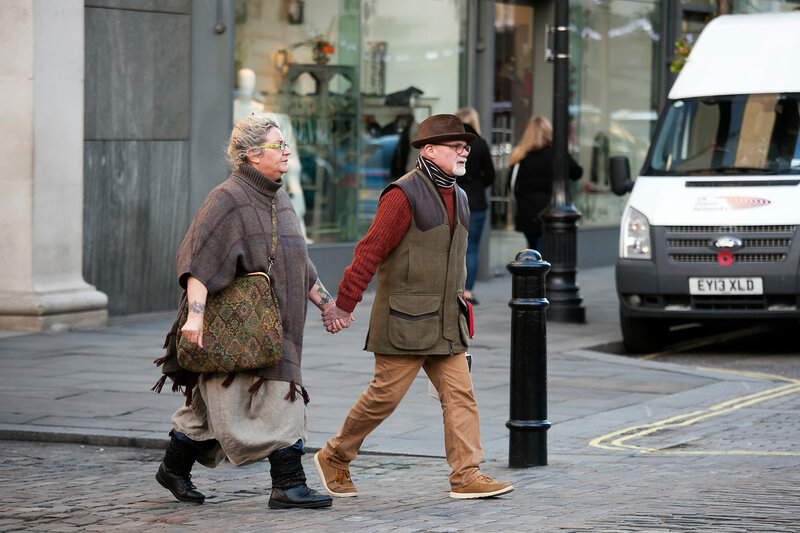 Old couple at Covent garden