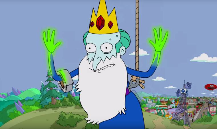 Simpsons Time - A couch gag paying tribute to Adventure Time