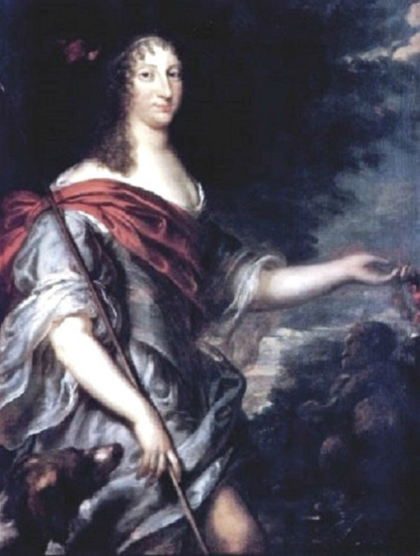 1640s Christina, Queen of Sweden Alexandra Maria Vasa (1626-1689) as Diana.jpg