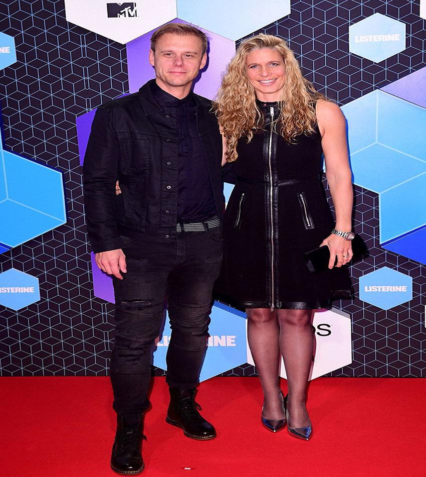 DJ Armin van Buuren and Erika van Thiel