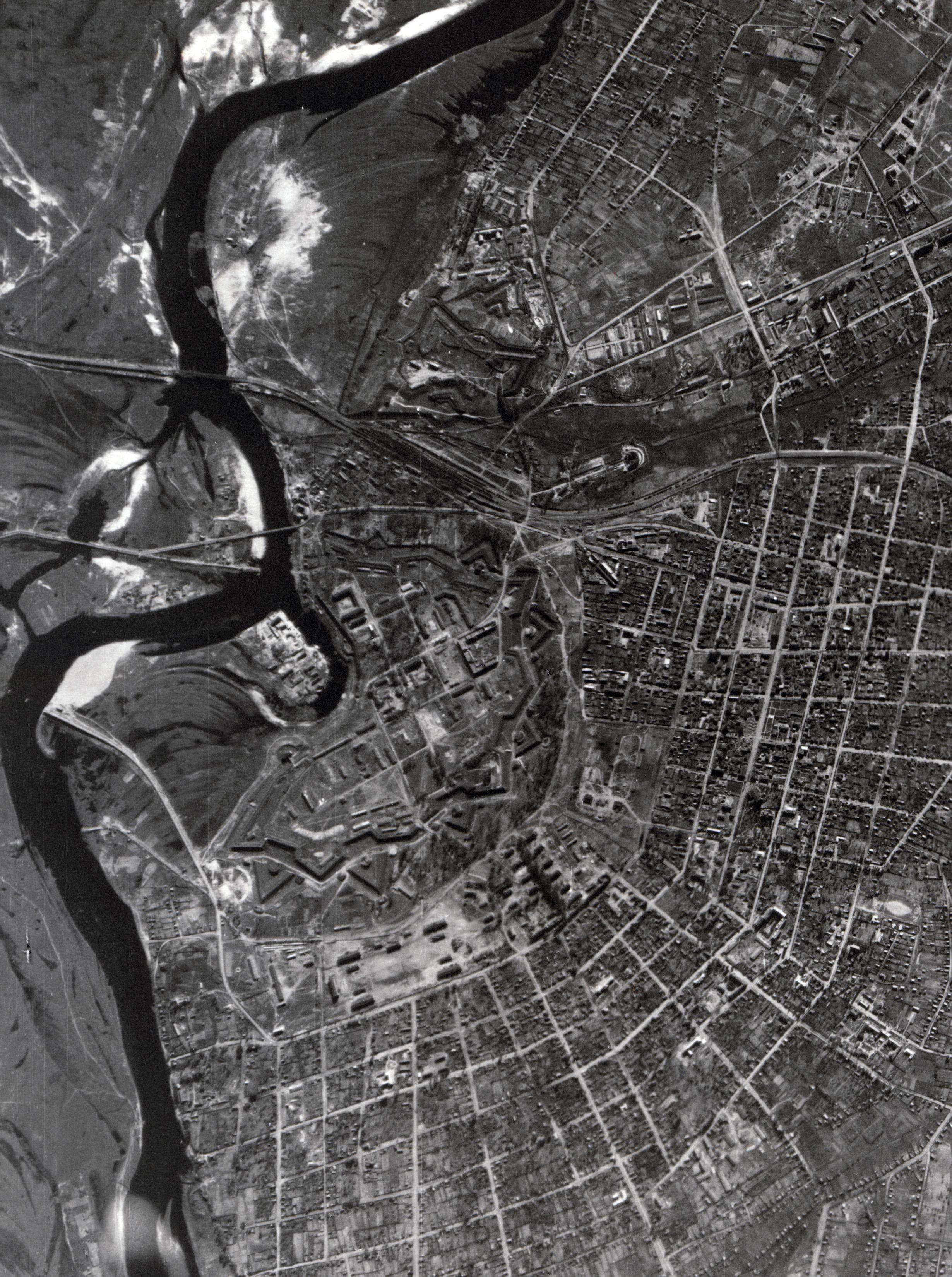 Аэросъемка Бобруйска в 1941 году