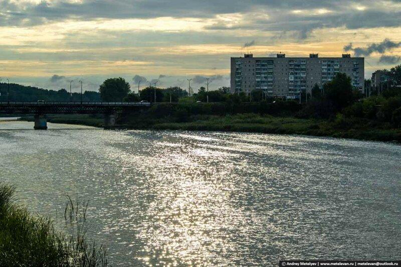 река Исеть в Каменске-Уральском